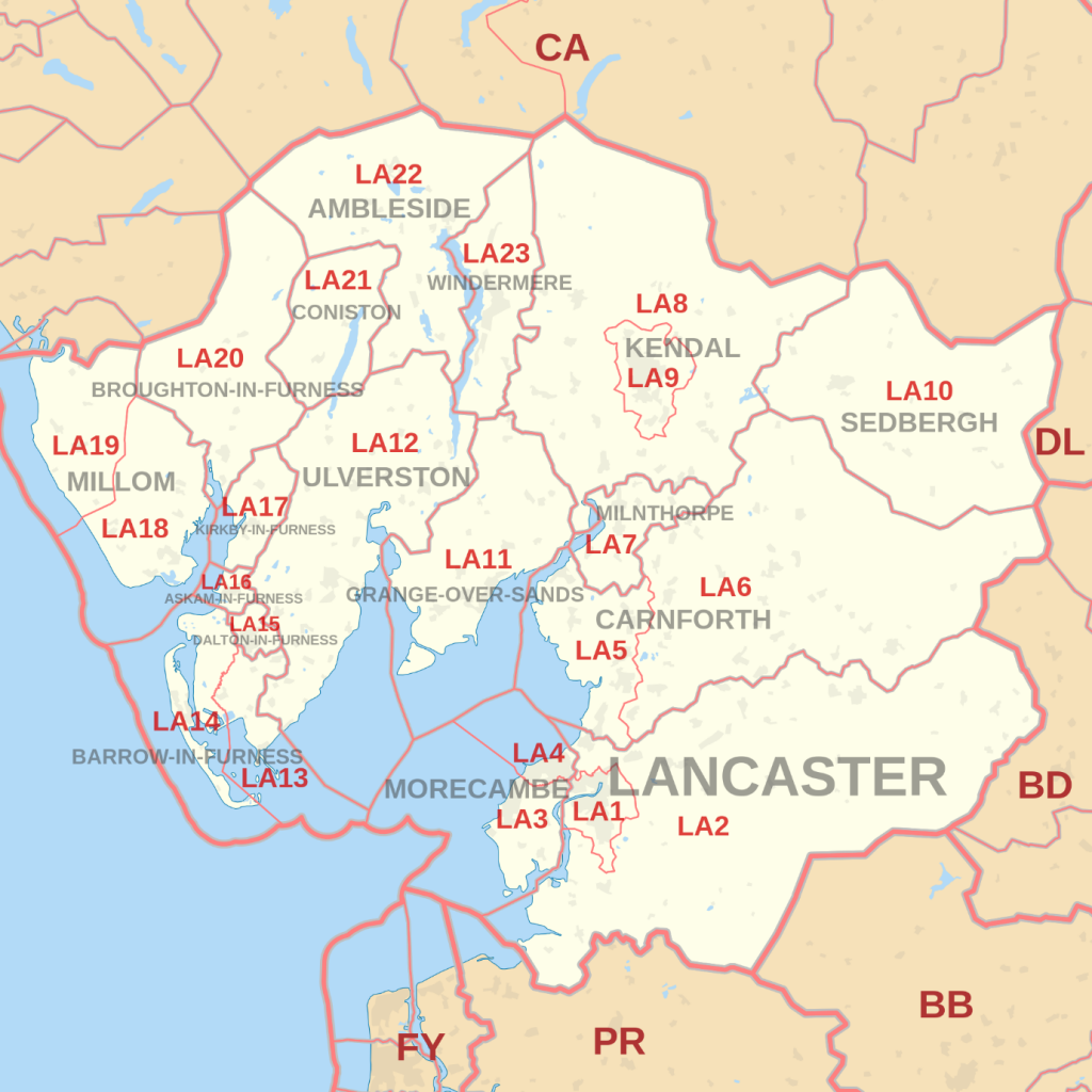 Lancaster map of areas we buy fast