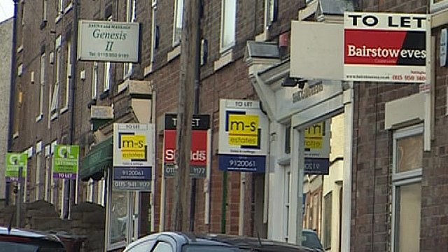 nottingham for let boards on properties not sold quickly